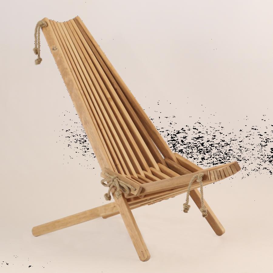 EcoChair Drevené kreslo Jelša olejovaná