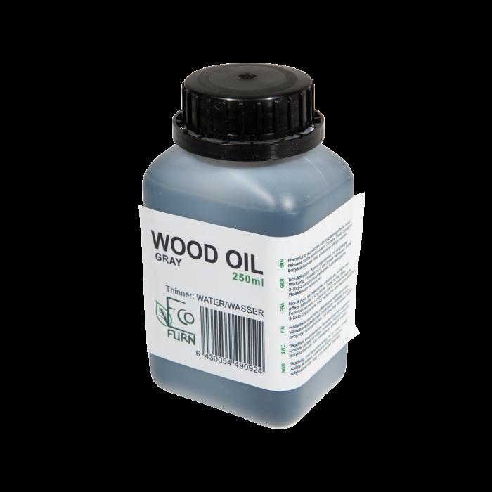 Olej na drevo šedý