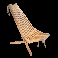 EcoChair Kreslo Jelša prírodné drevo