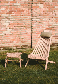 Lilli Drevený stolček Jelša prírodná