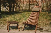 Lilli Drevený stolček Jaseň hnedý