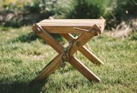 Lilli Drevený stolček Dub olejovaný