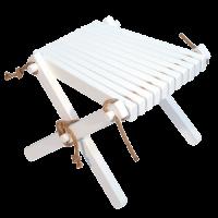 Lilli Drevený stolček Breza biela